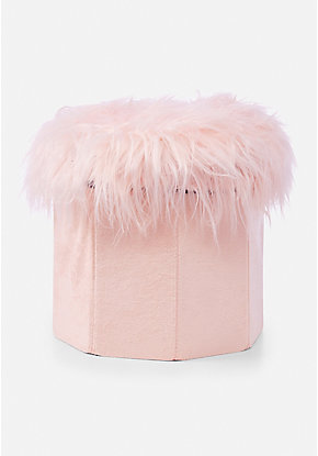 Faux Fur Collapsible Storage Bin