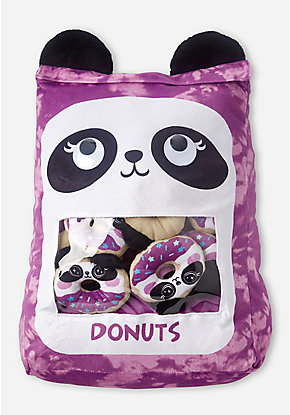 Panda Donut Pocket Pillow