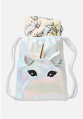 Unicorn Blanket in a Bag