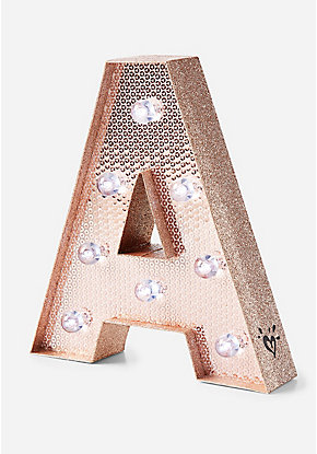 Rose Gold Initial Marquee Light