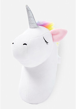 Unicorn Head Plush Wall Décor