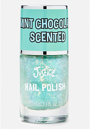Green Mint Chocolate Scented Nail Polish