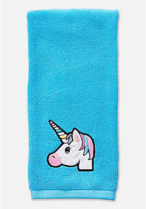 Unicorn Emoji Hand Towel