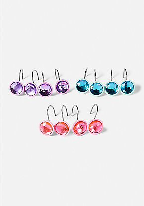 Mermaid Gem Shower Hooks