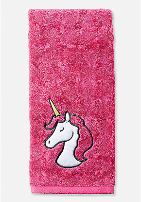 Unicorn Head Hand Towel
