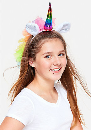 Rainbow Unicorn Veil Headband