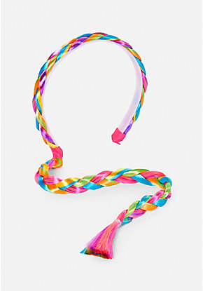 Rainbow Braid Headband