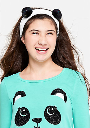 Panda Plush Headwrap