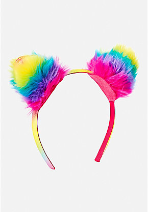 Rainbow Cat Ear Headband