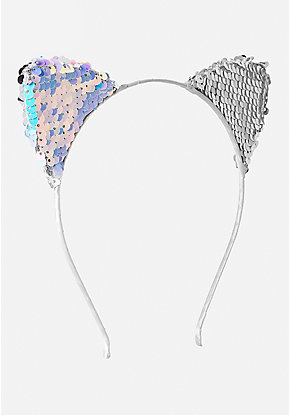 Flip Sequin Cat Ear Headband