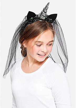 Dark Unicorn Veil Headband