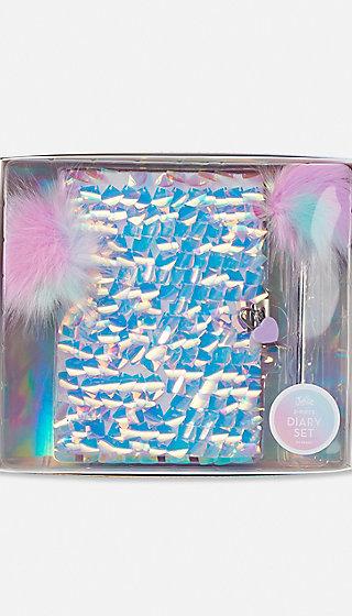 Iridescent Shimmer Journal Gift Set Justice