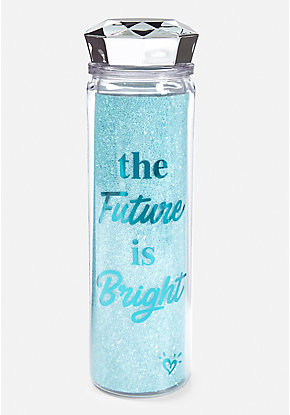 The Future is Bright Sparkle Water Bottle