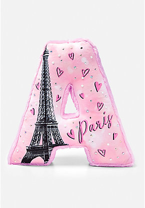 Paris Pearl Initial Pillow