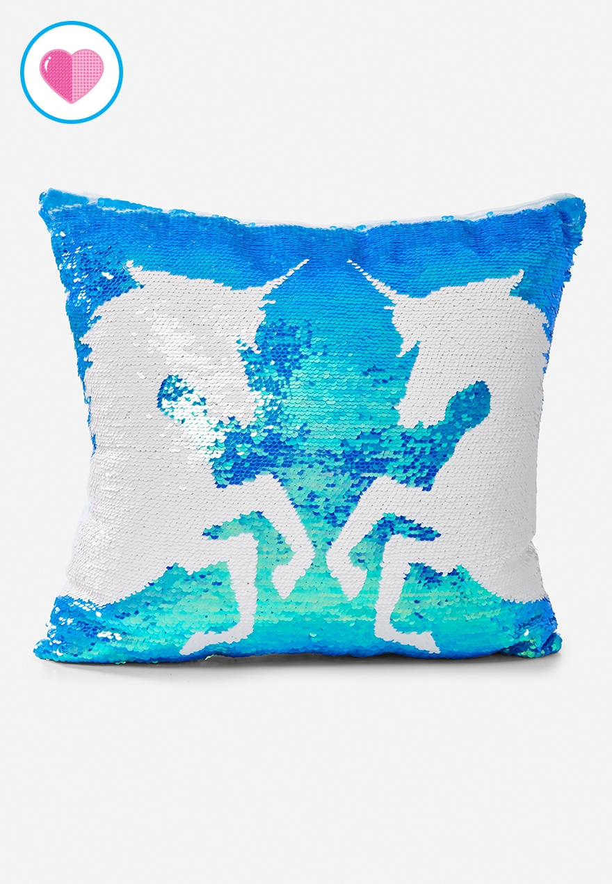 Unicorn Flip Sequin Pillow Justice