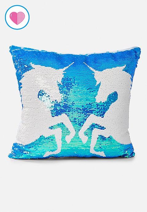 Unicorn Flip Sequin Pillow Justice