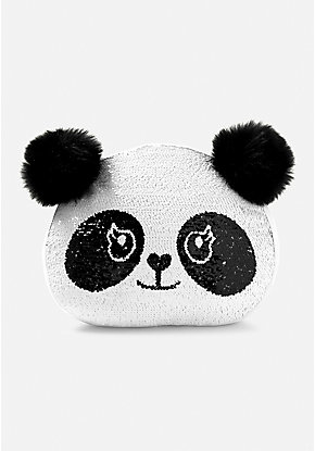 Panda Flip Sequin Pillow
