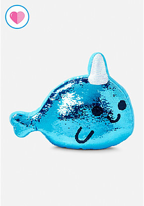 Narwhal Flip Sequin Pillow