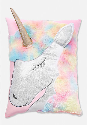 Shimmer Unicorn Pillow