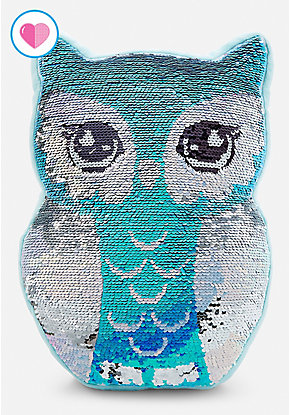 Owl Flip Sequin Pillow