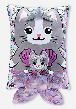 Meowmaid Pouch Pillow