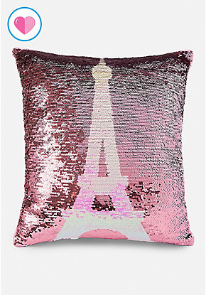 Eiffel Tower Flip Sequin Pillow