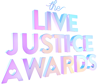 Logo for the Live Justice Awards Sweepstakes