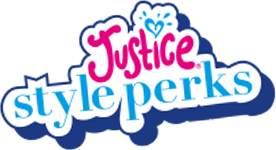 Logo for the Justice style perks