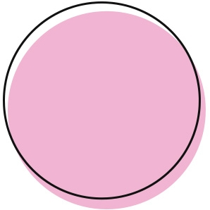 Pink circle that says 'tops'
