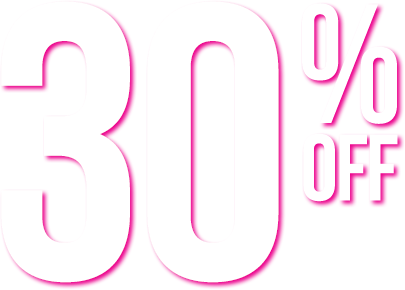 Text banner that says '30% off'