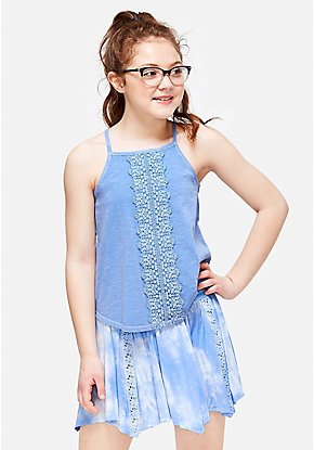Crochet High Neck Tank