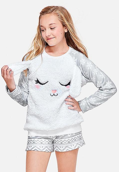 e4bc6adefdab Sleep Snow Bunny Pajama Top