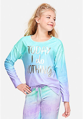 Today I Do Nothing Pajama Top