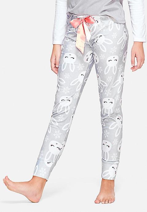 Snow Bunny Pajama Pants Justice