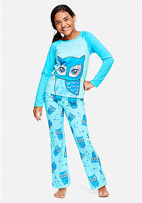 c33e90e0cd44 Owl Pajama Set