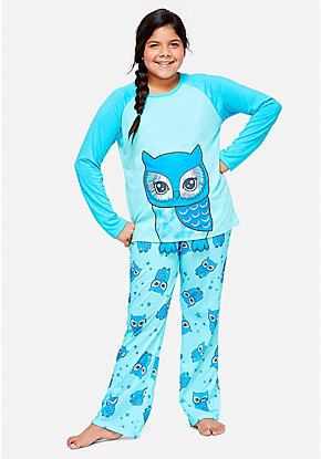 Owl Pajama Set