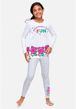 Make Every Day Fun Pig Pajama Set
