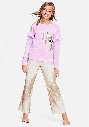 7d3dd8633457b Reindeer Ruffle Pajama Set