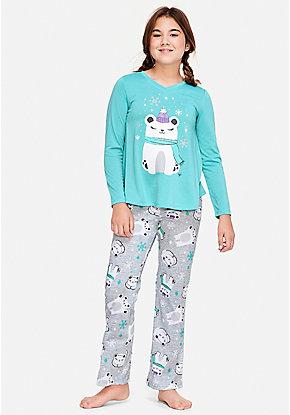 polar bear pajama set - Juniors Christmas Pajamas
