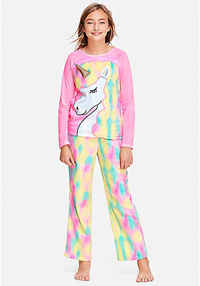 0b87616014fc Pastel Unicorn Pajama Set