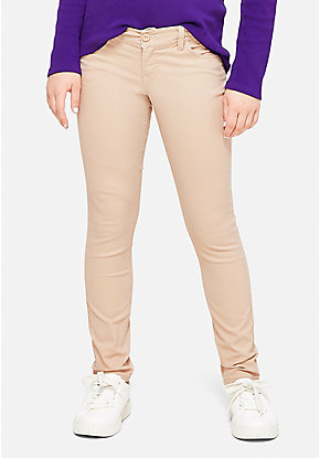 School Uniform Woven Skinny Pants
