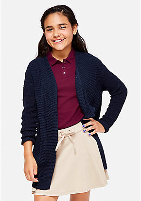 School Uniform Waterfall Cardigan