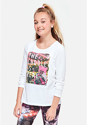 Flip Sequin Graphic Tee