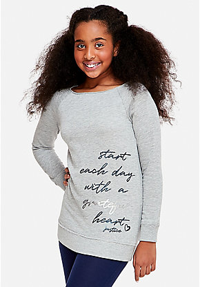 Positive Message Tunic Sweatshirt