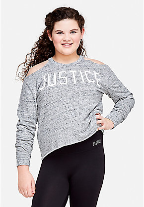 Logo Cold Shoulder Sweatshirt
