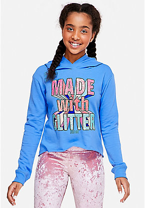 Made with Glitter Graphic Hoodie
