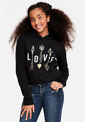 Love Arrows Graphic Hoodie