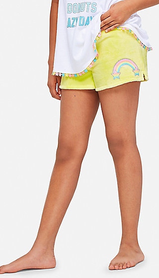 Rainbow Soft Pajama Shorts