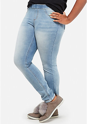 Pull-On Jean Legging