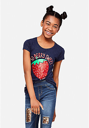 Scented strawberry graphic tee